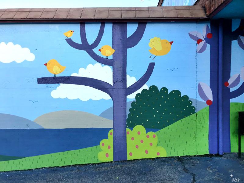 mural izas azulpatio ceip ramiro de maeztu 3