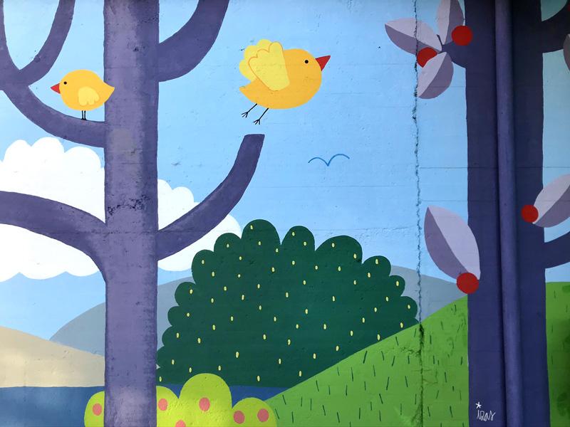 mural izas azulpatio ceip ramiro de maeztu 6