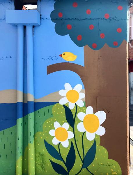 mural izas azulpatio ceip ramiro de maeztu detalle 3