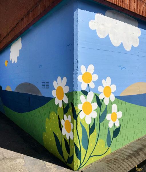 mural izas azulpatio ceip ramiro de maeztu detalle 4