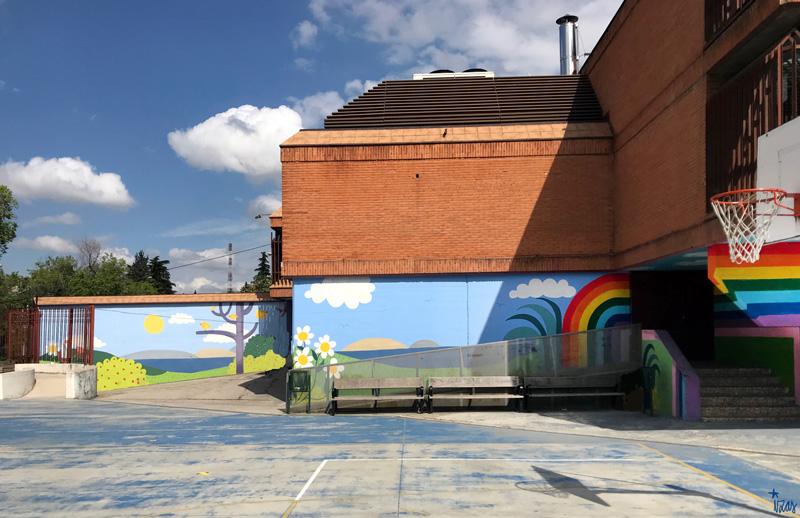 mural izas azulpatio ceip ramiro de maeztu pano 5