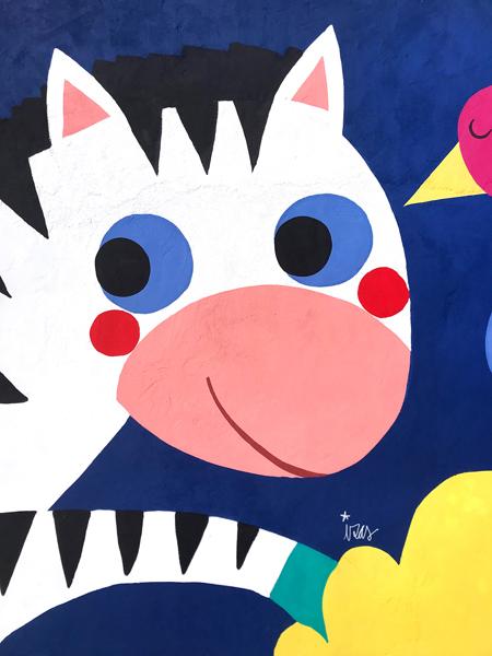 mural izas azulpatio lorca alcorcón detalle cebra 1