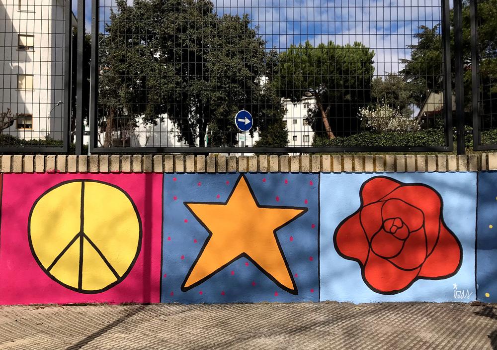 mural izas azulpatio miguel delibes entrada primaria detalle 4