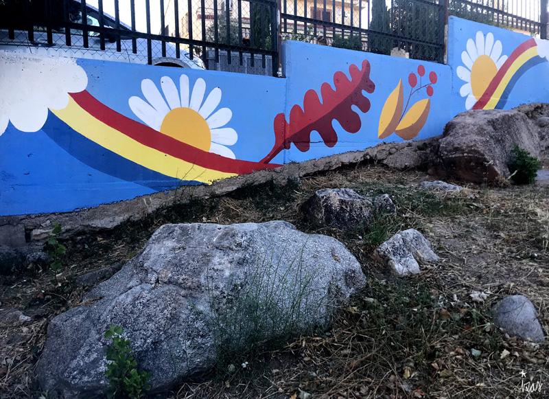 mural izas azulpatio miguel delibes primaria detalle 14