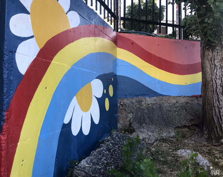 mural izas azulpatio miguel delibes primaria detalle 28