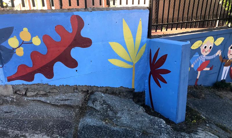 mural izas azulpatio miguel delibes primaria detalle 29