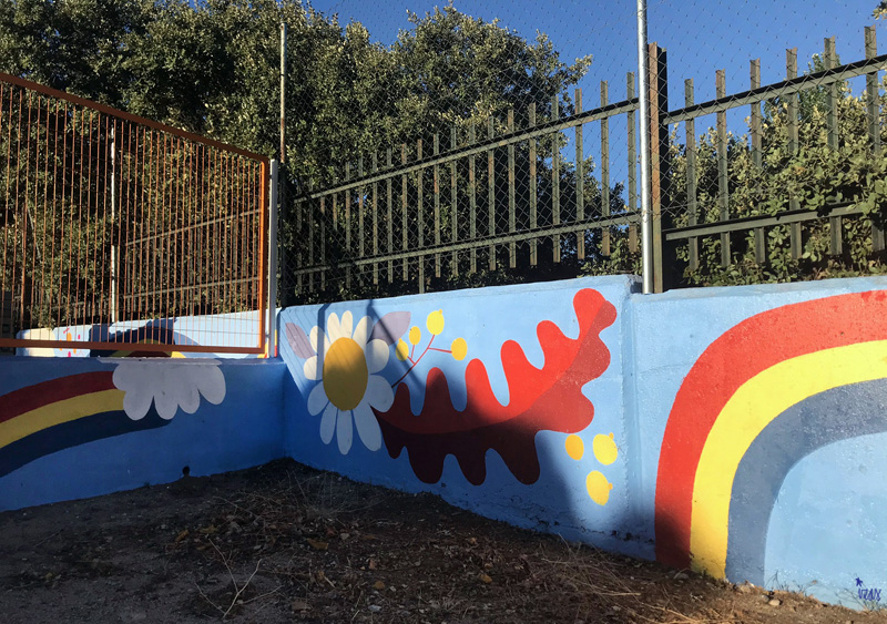 mural izas azulpatio miguel delibes primaria detalle 5