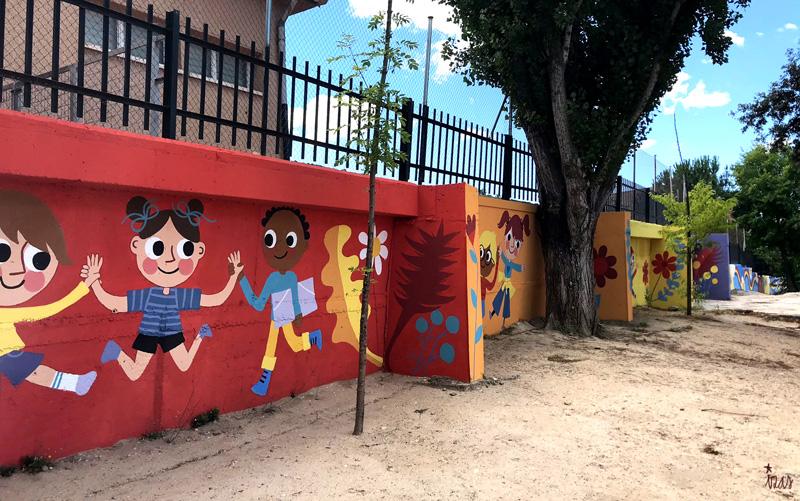 mural izas azulpatio miguel delibes primaria pano 5