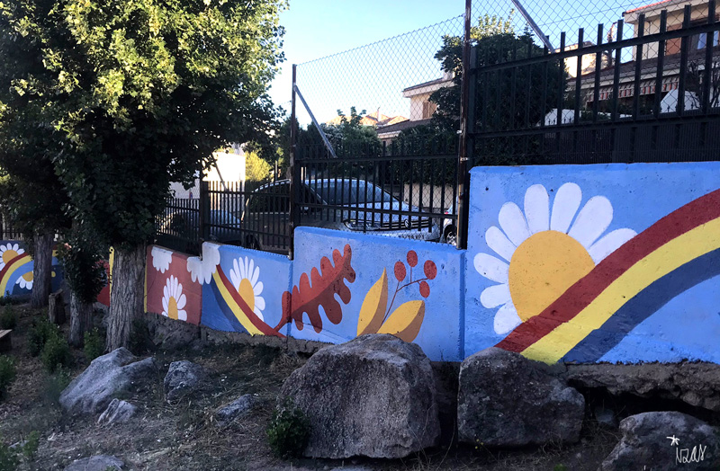 mural izas azulpatio miguel delibes primaria pano 6