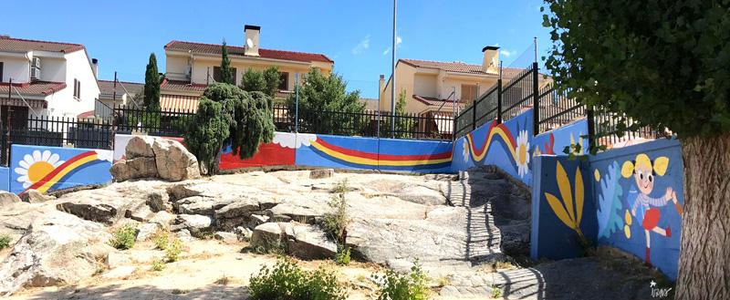 mural izas azulpatio miguel delibes primaria pano 7