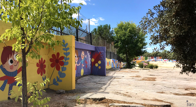 mural izas azulpatio miguel delibes primaria pano 8