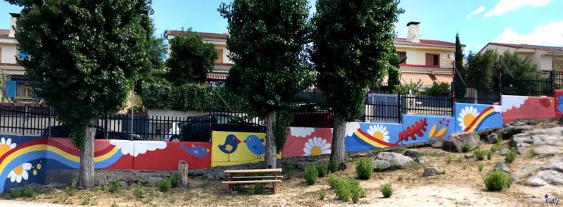 mural izas azulpatio miguel delibes primaria pano 9