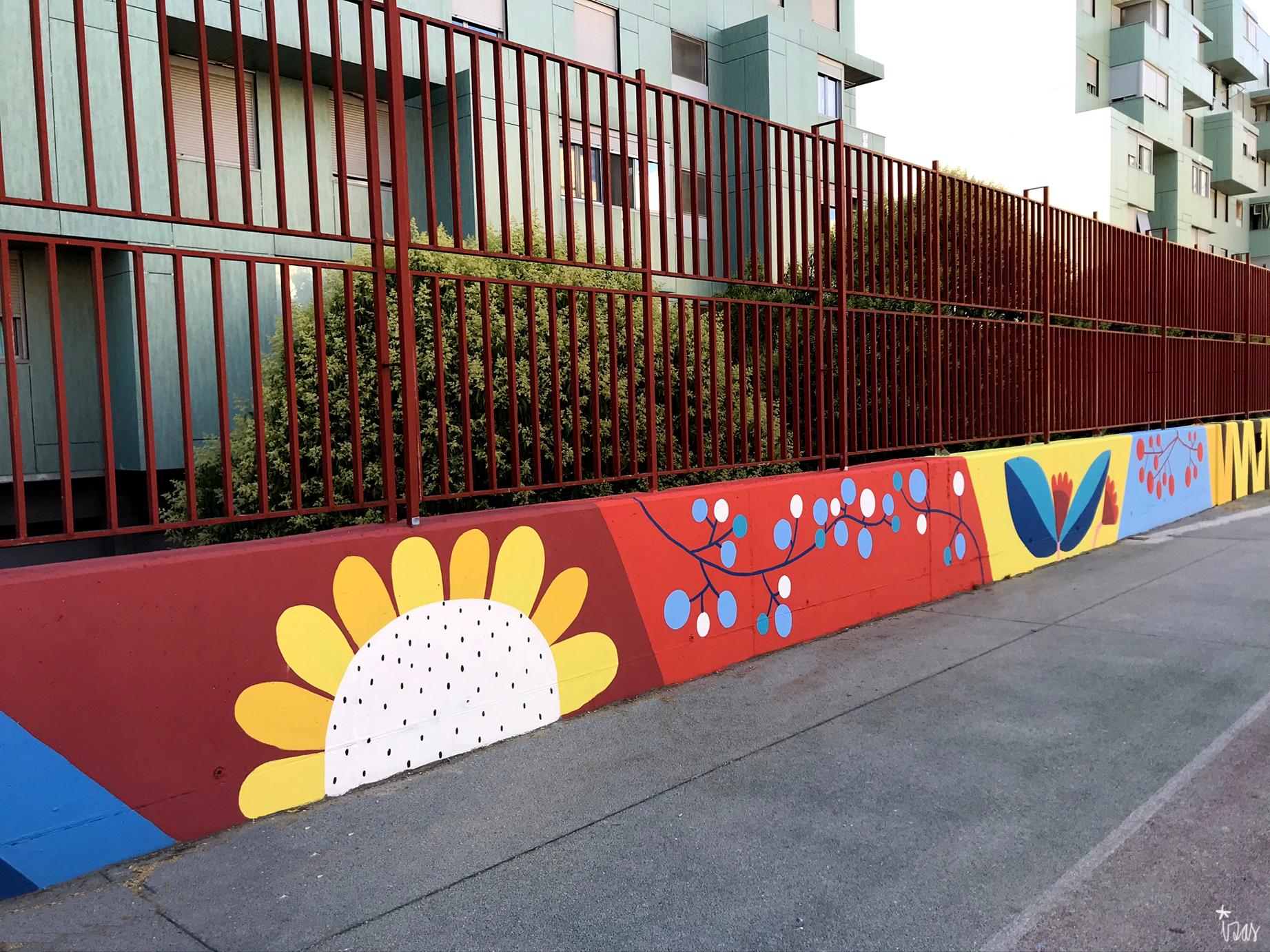 mural izas azulpatio ceip eduardo rojo patio detalle 1