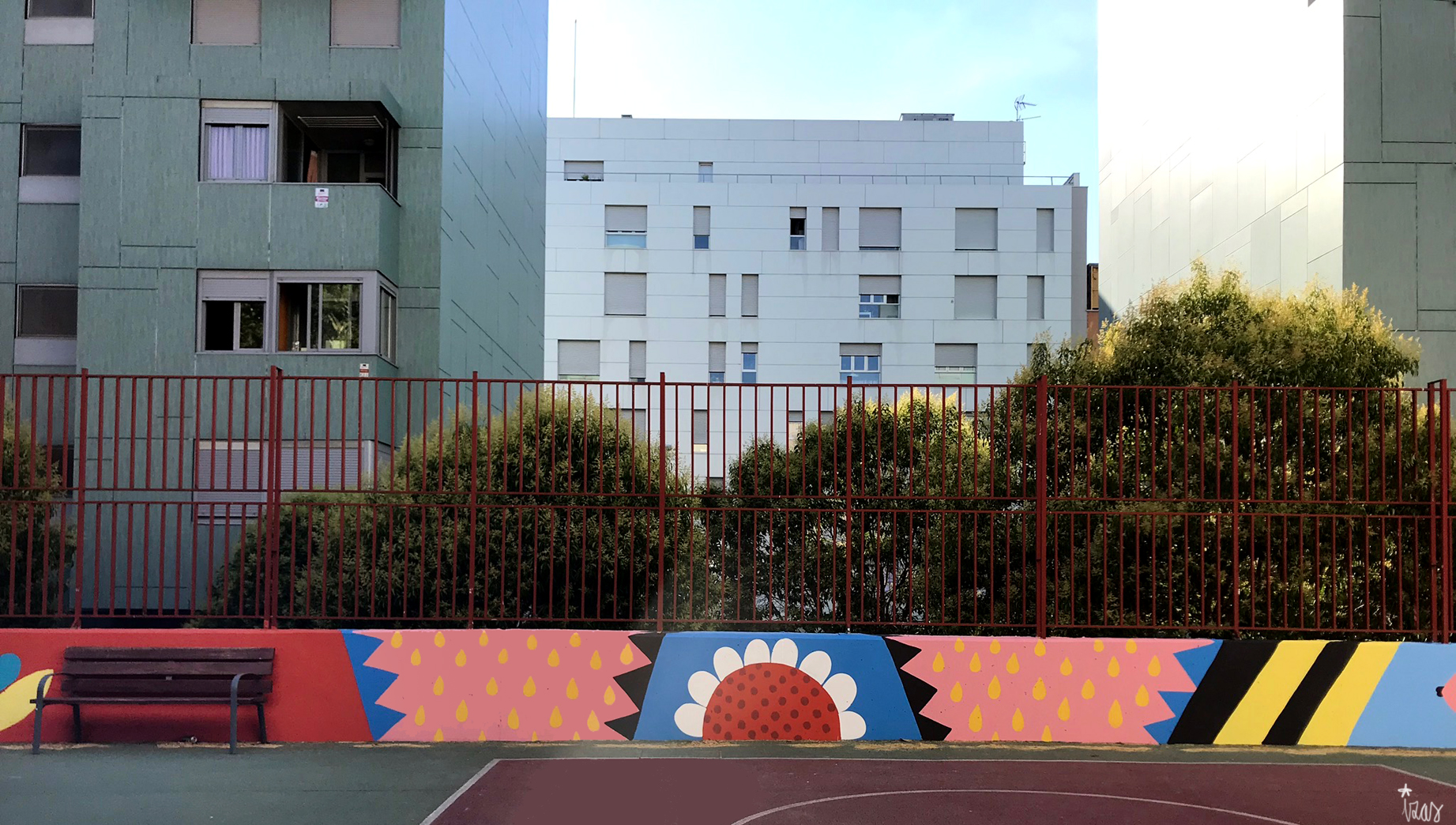 mural izas azulpatio ceip eduardo rojo patio detalle 19