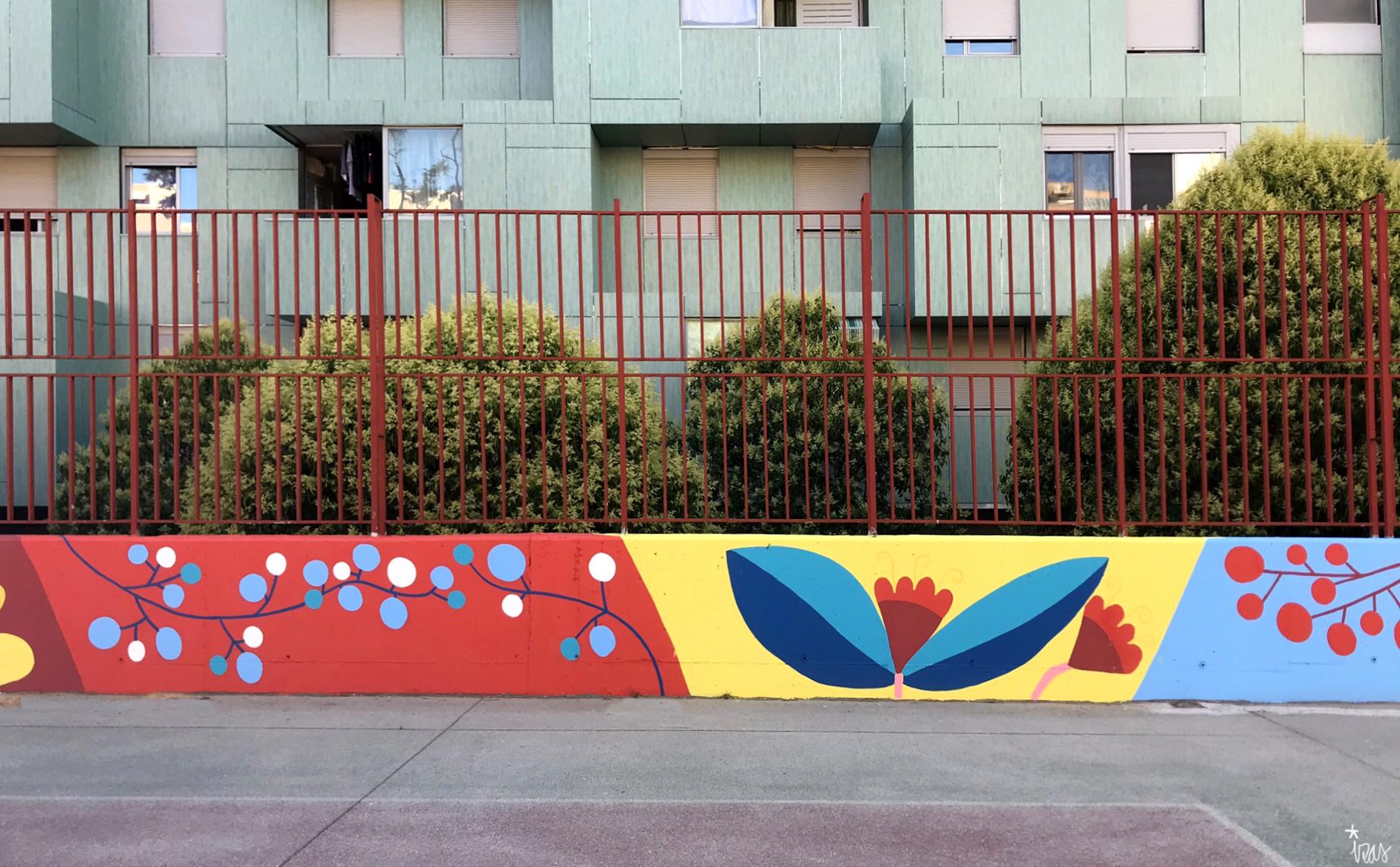 mural izas azulpatio ceip eduardo rojo patio detalle 4