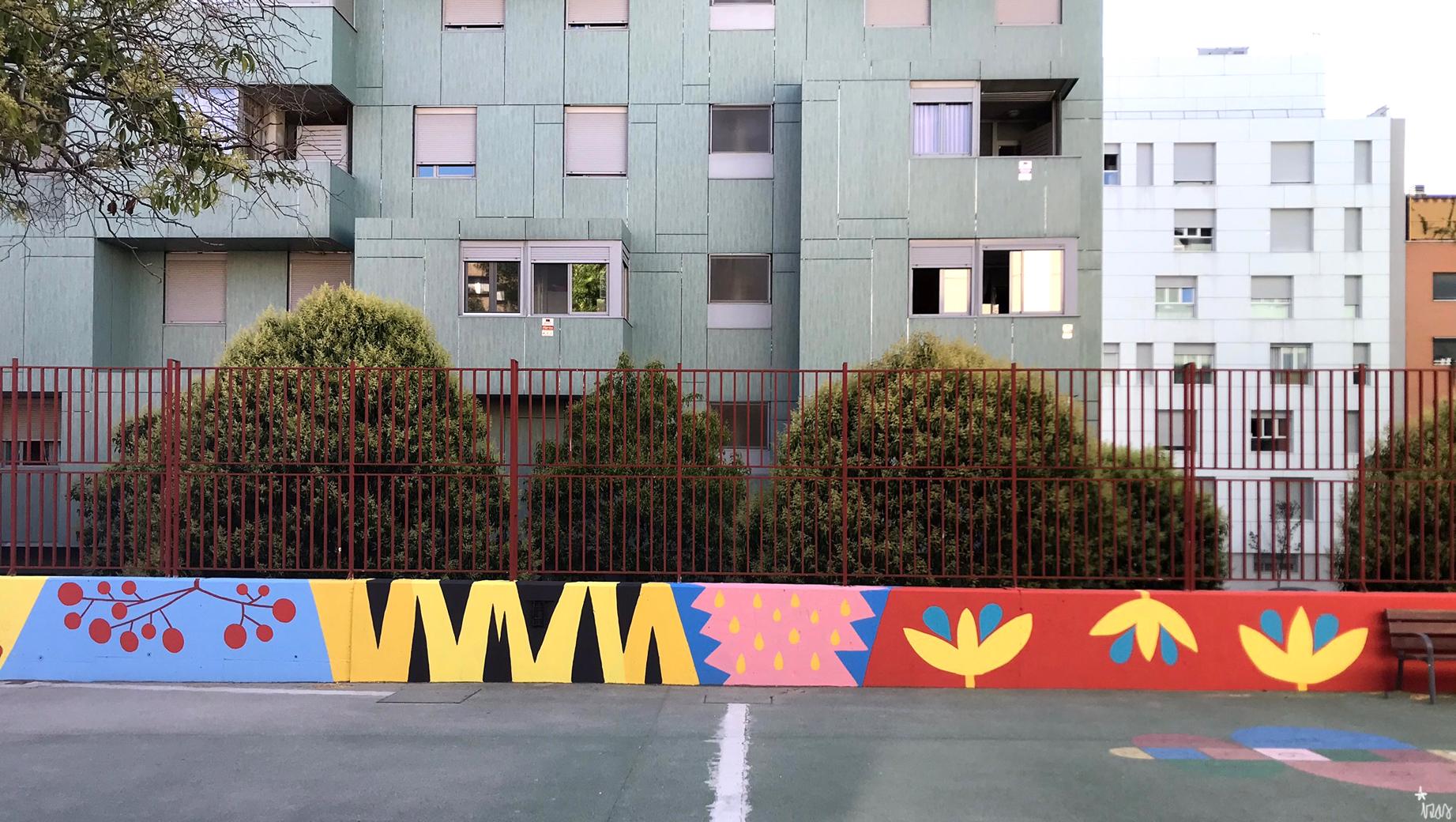 mural izas azulpatio ceip eduardo rojo patio detalle 5