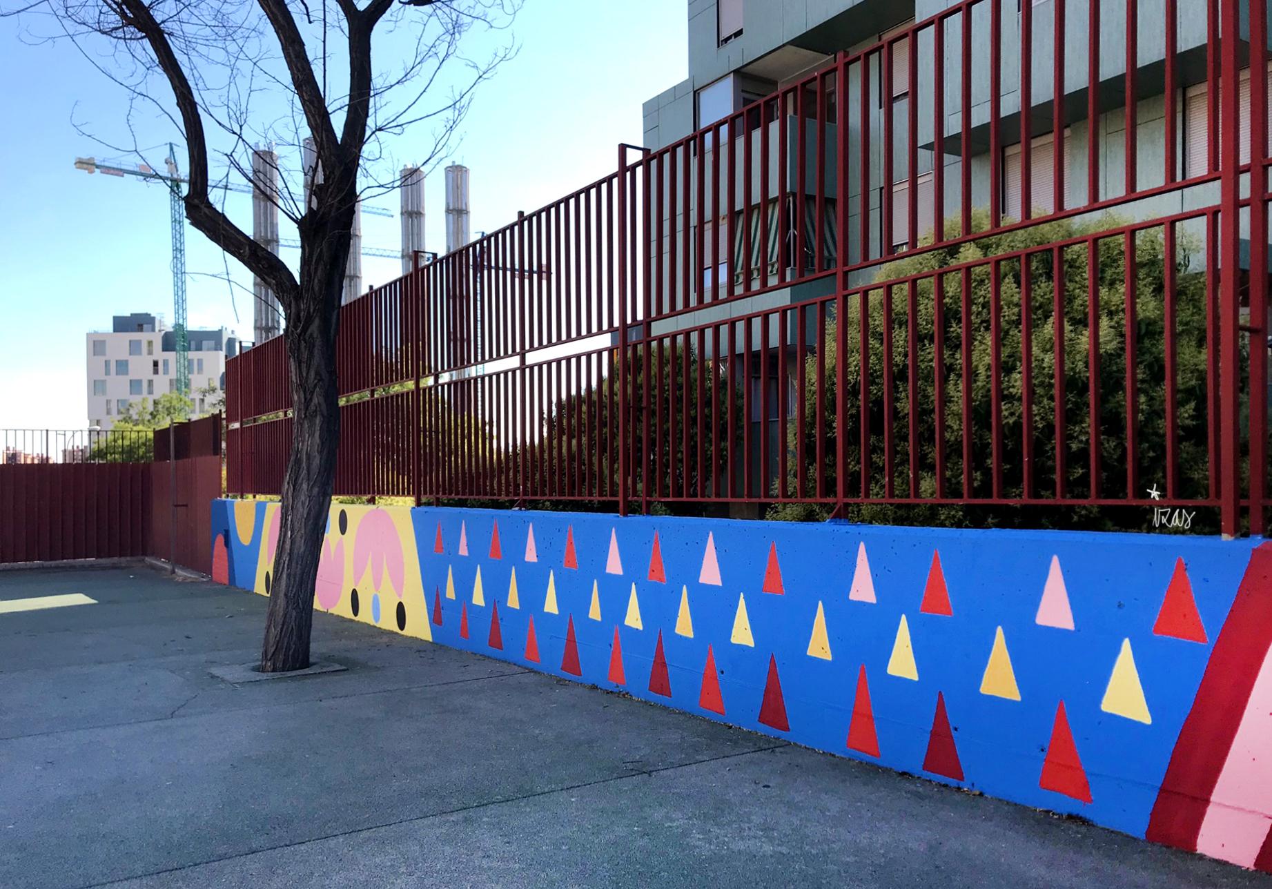 mural izas azulpatio ceip eduardo rojo patio detalle 7