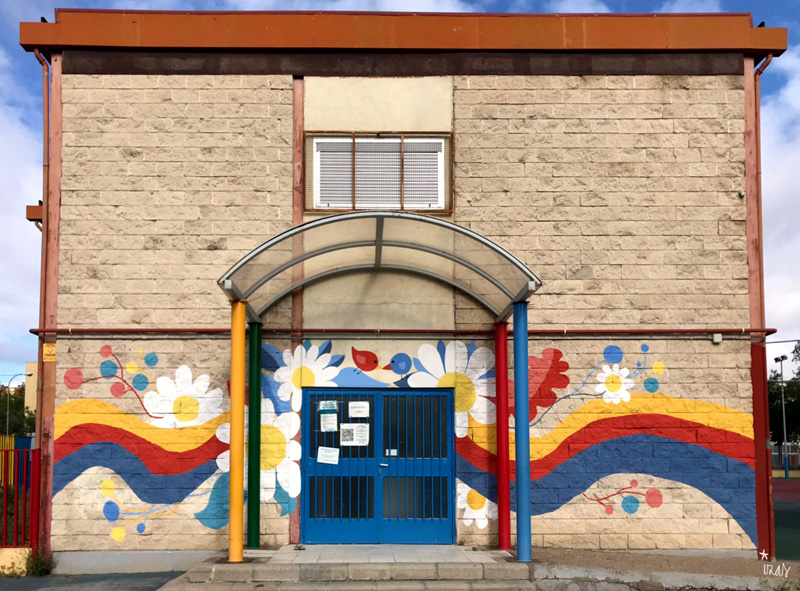 mural izas azulpatio ceip santo domingo entrada inf 2