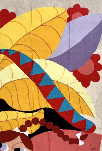 mural izas azulpatio ceip santo domingo patio detalle 13