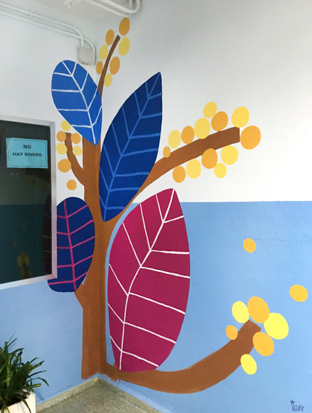 mural izas azulpatio entrada ceip santo domingo detalle 19