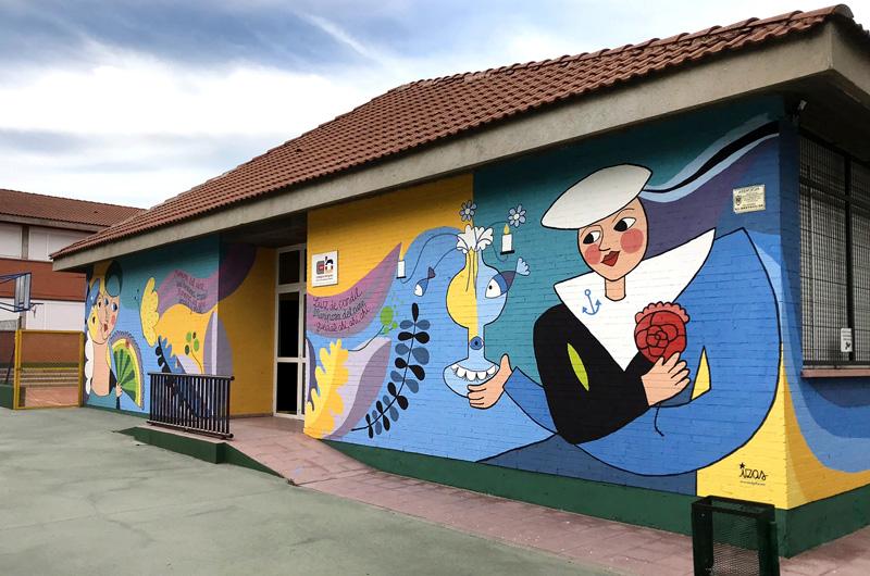 mural izas azulpatio lorca colmenar desde dcha