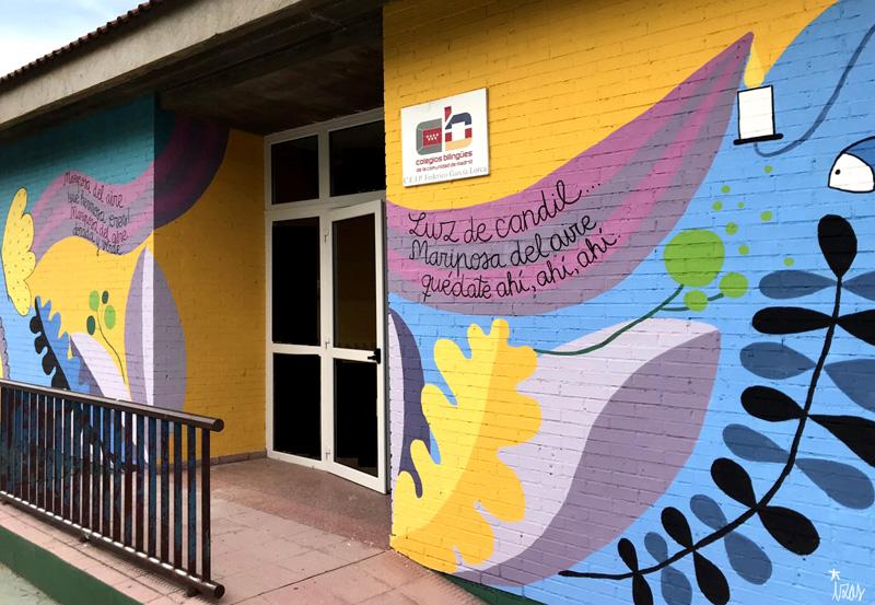 mural izas azulpatio lorca colmenar detalle 5