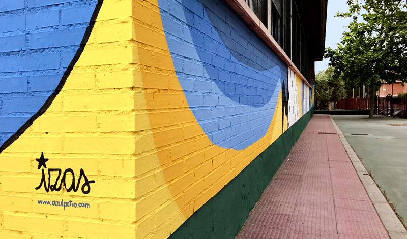mural izas azulpatio lorca colmenar detalle 7