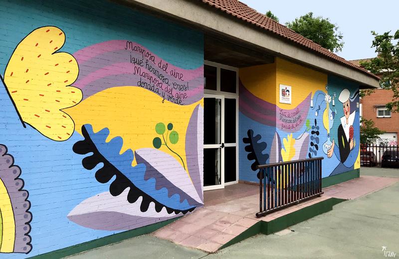 mural izas azulpatio lorca colmenar frente desde izq