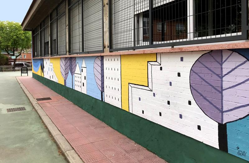 mural izas azulpatio lorca colmenar lateral dcha 1