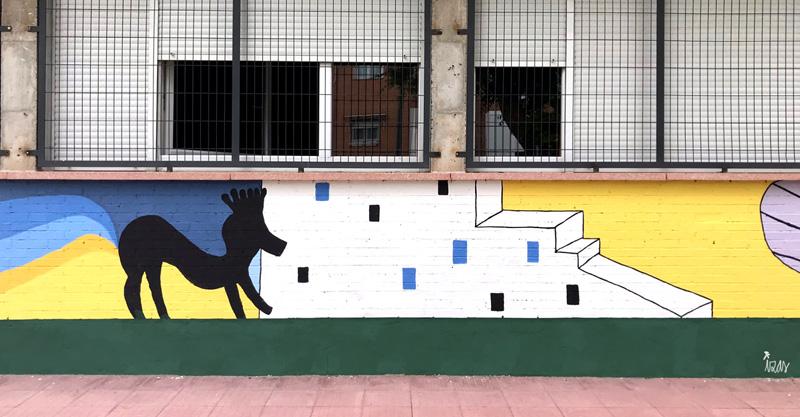 mural izas azulpatio lorca colmenar lateral detalle 1