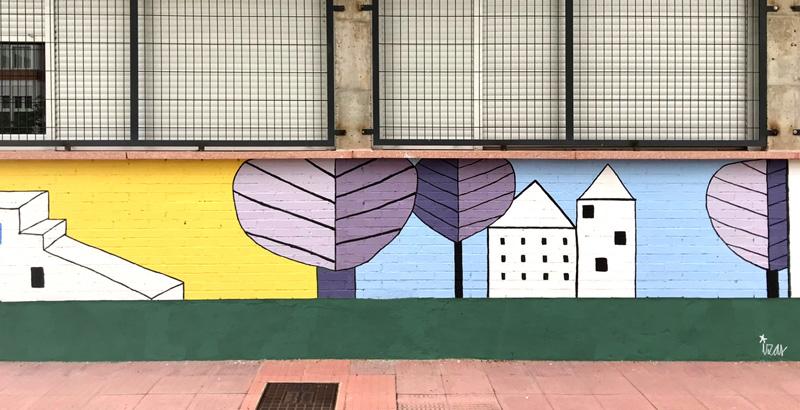 mural izas azulpatio lorca colmenar lateral detalle 2