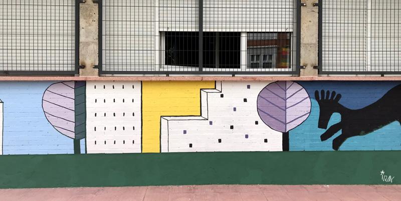 mural izas azulpatio lorca colmenar lateral detalle 3
