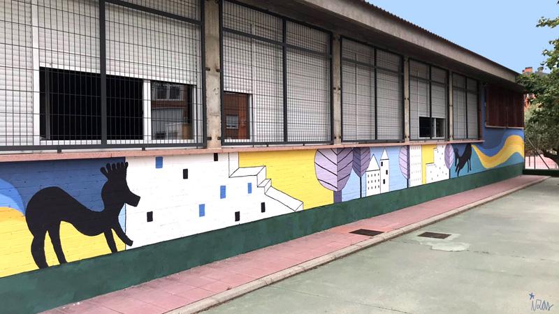 mural izas azulpatio lorca colmenar lateral izq