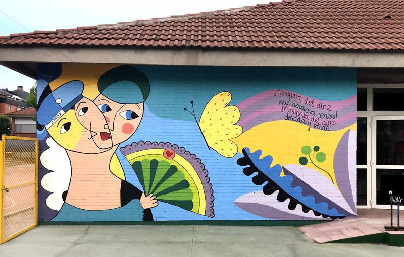 mural izas azulpatio lorca colmenar parte izquierda