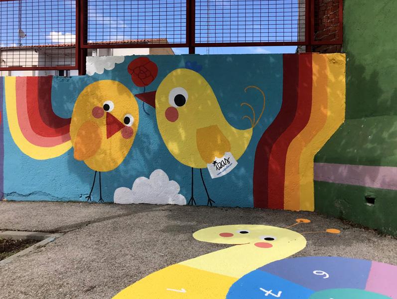 mural izas azul patio ntra sra asunción detalle 1