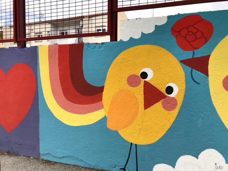 mural izas azul patio ntra sra asunción detalle 14
