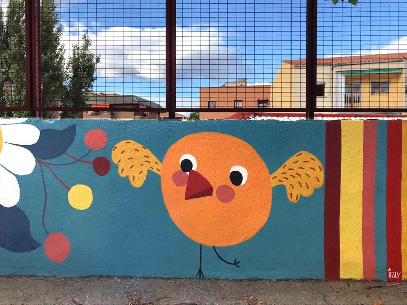 mural izas azul patio ntra sra asunción detalle 16