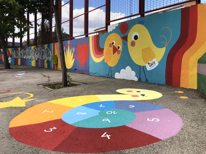 mural izas azul patio ntra sra asunción detalle 2