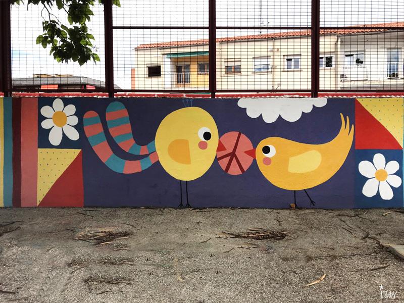 mural izas azul patio ntra sra asunción detalle 3