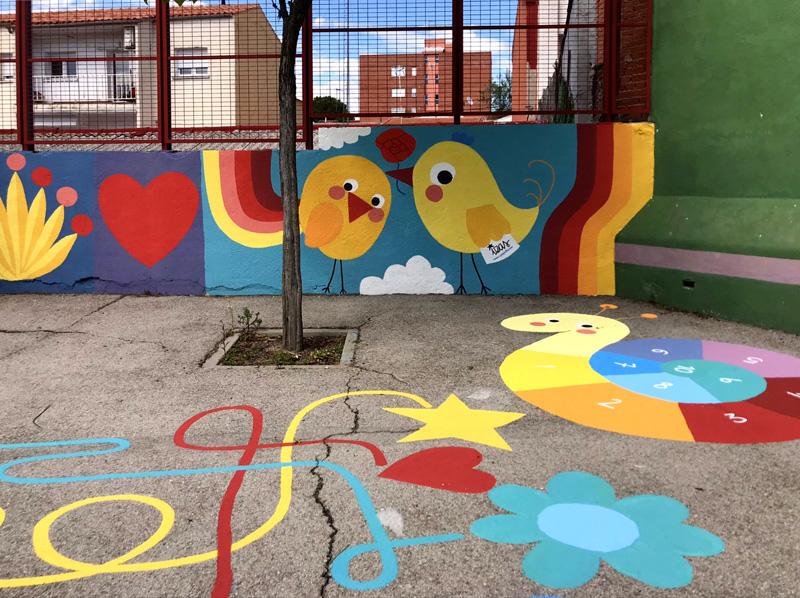 mural izas azul patio ntra sra asunción detalle 4