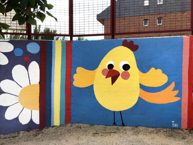 mural izas azul patio ntra sra asunción detalle 5