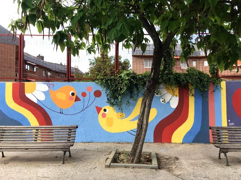 mural izas azul patio ntra sra asunción detalle 6