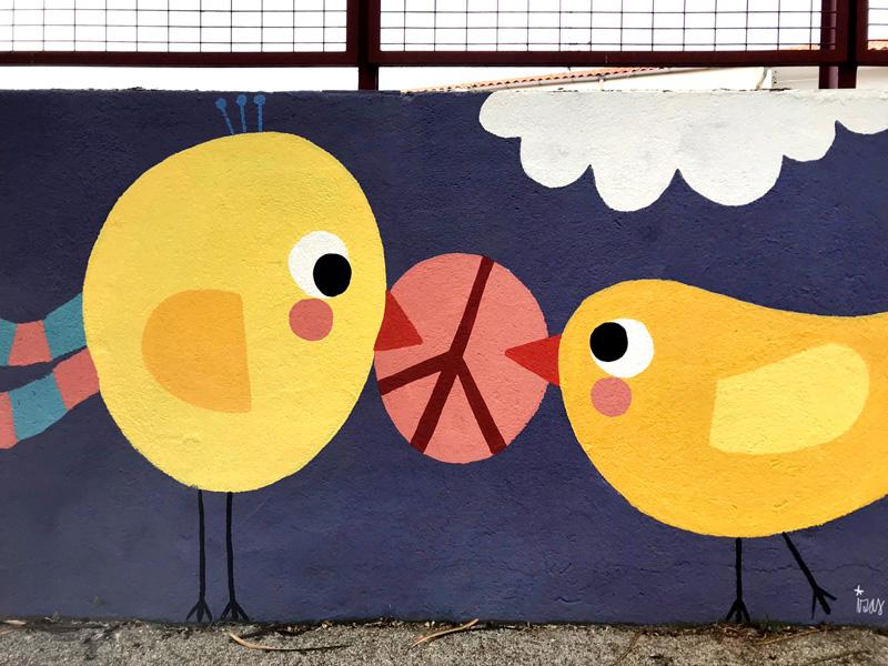 mural izas azul patio ntra sra asunción detalle 7