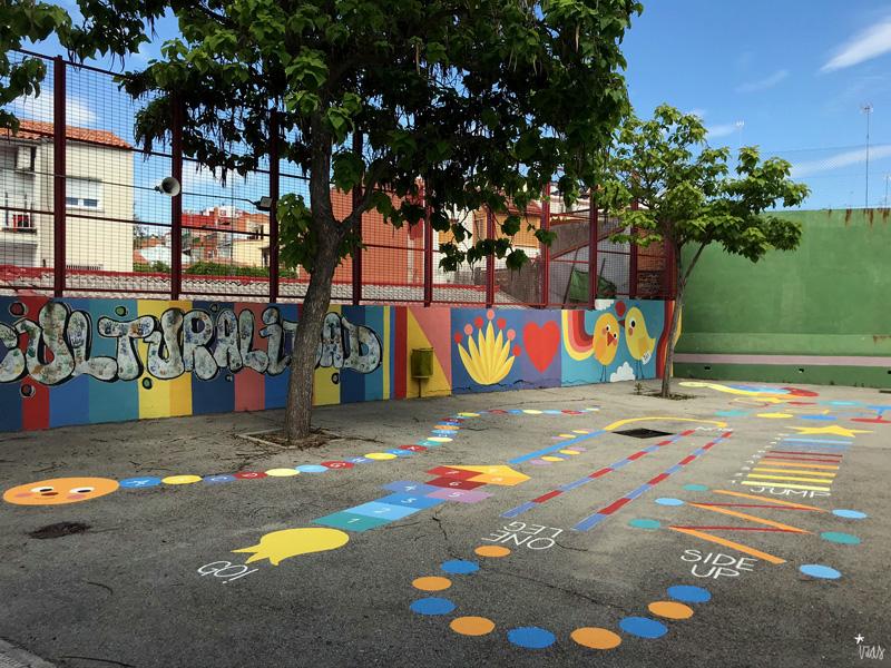 mural izas azul patio ntra sra asunción pano