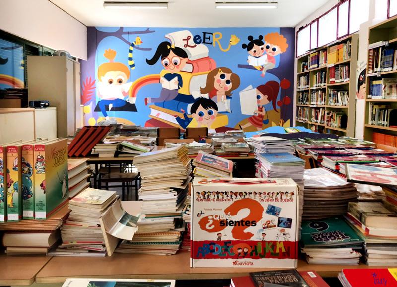 mural izas azulpatio ceip agustina diez pano 2