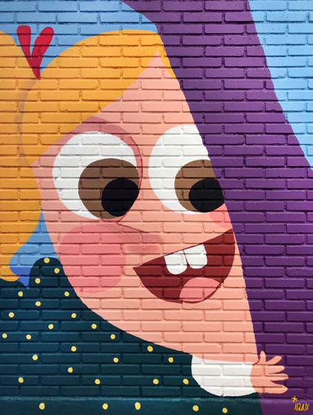 mural izas azulpatio ceip asunción agustina díez entrada detalle 9