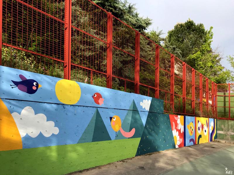 mural izas azulpatio ceip asunción de nuestra señora izq
