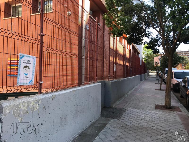 mural izas azulpatio ceip eduardo rojo exterior antes