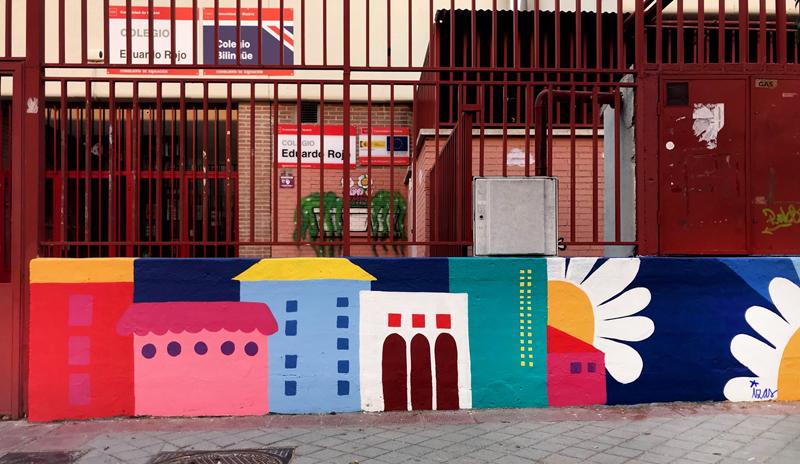 mural izas azulpatio ceip eduardo rojo exterior detalle 4
