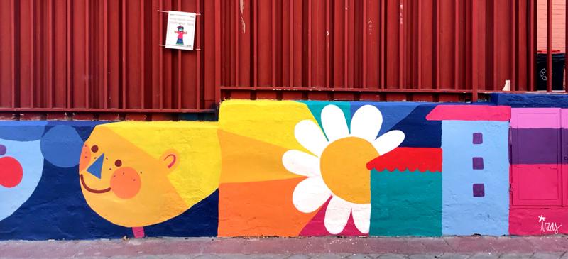 mural izas azulpatio ceip eduardo rojo exterior detalle 5